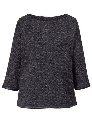 Sara Lindholm by Happy Size Shirt mit Lederimitat