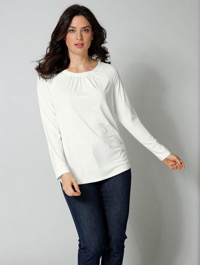Sara Lindholm by Happy Size Shirt mit Raffung
