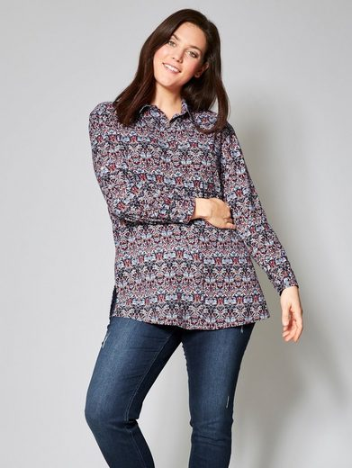 Janet und Joyce by Happy Size Bluse mit Allover-Print
