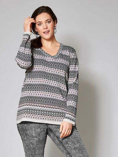 Janet und Joyce by Happy Size Pullover in Oversize-Form