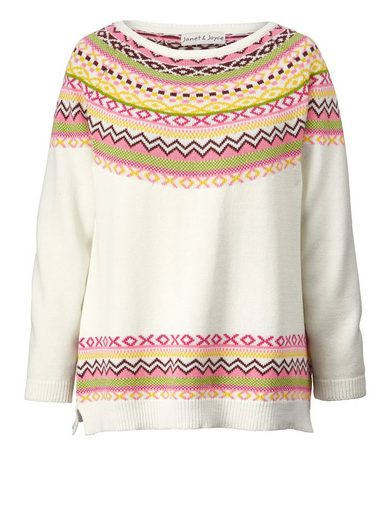 Janet und Joyce by Happy Size Pullover im Norweger-Stil