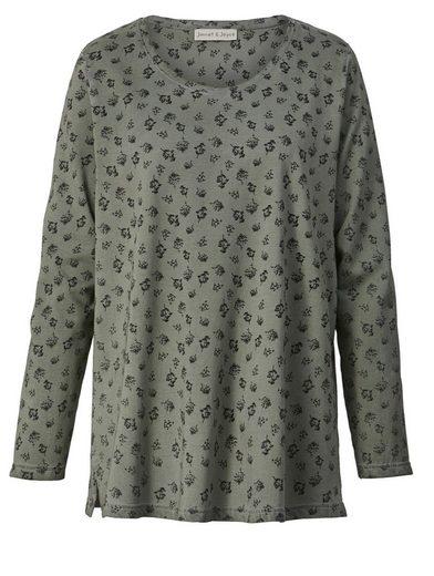 Janet und Joyce by Happy Size Sweatshirt oil wash mit Allover-Print