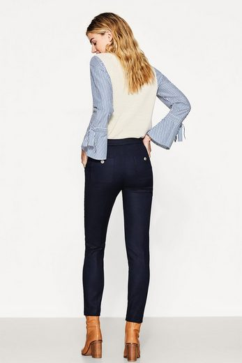 ESPRIT COLLECTION Smarte Stretch-Hose mit Wappenknöpfen