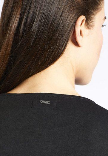 khujo Jerseykleid LUWAE, mit Schnürung am Taillenbund