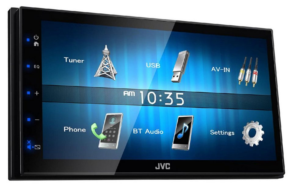 jvc 2 din digital media receiver mit apple carplay. Black Bedroom Furniture Sets. Home Design Ideas