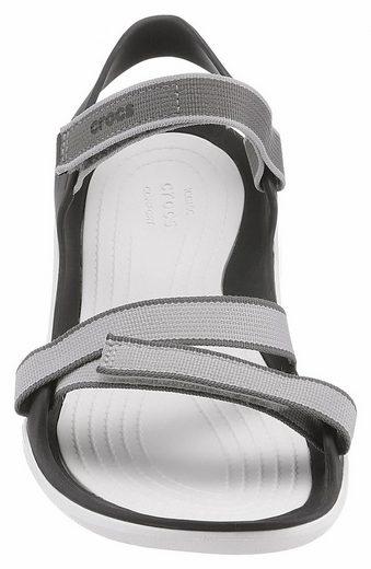 Crocs Swiftwater Webbing Sandal Sandale, mit verstellbaren Klettverschlüssen