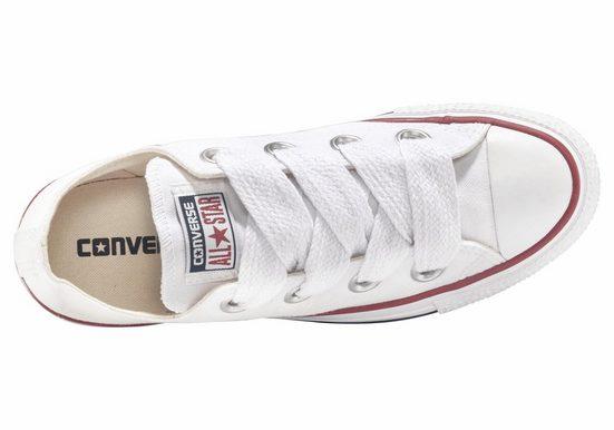 Converse Big Eyelets« Core Weiß Star Taylor Ox All Sneaker »chuck zSqpVGUM