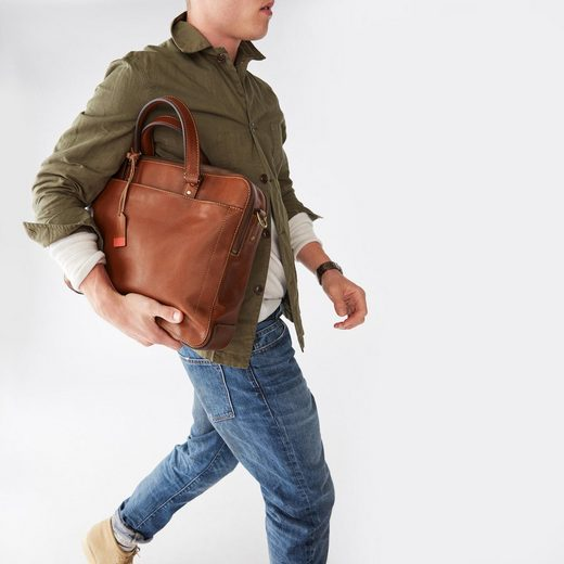 Fossil Messenger Bag DEFENDER Double Zip, mit gepolstertertem Laptopfach