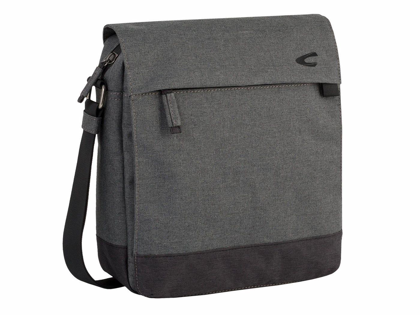 Herren camel active Umhängetasche HONG KONG  Crossbody-Bag mit gepolstertem Laptop-Fach grau | 04251234420577