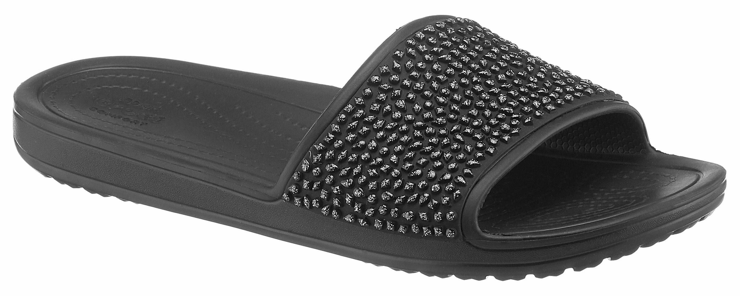 Crocs Crocs Sloane Embellished Slide Pantolette, mit modischen Schmucksteinchen online kaufen  schwarz