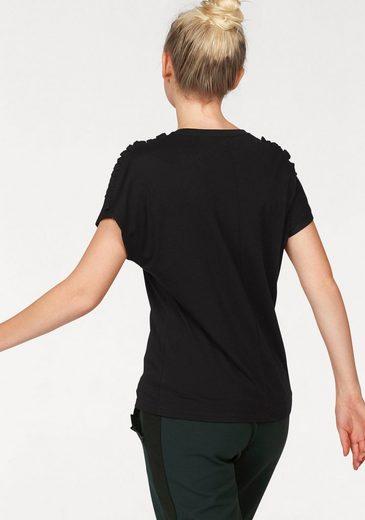 eksept Print-Shirt HUNDRED TOP, mit großer Applikation
