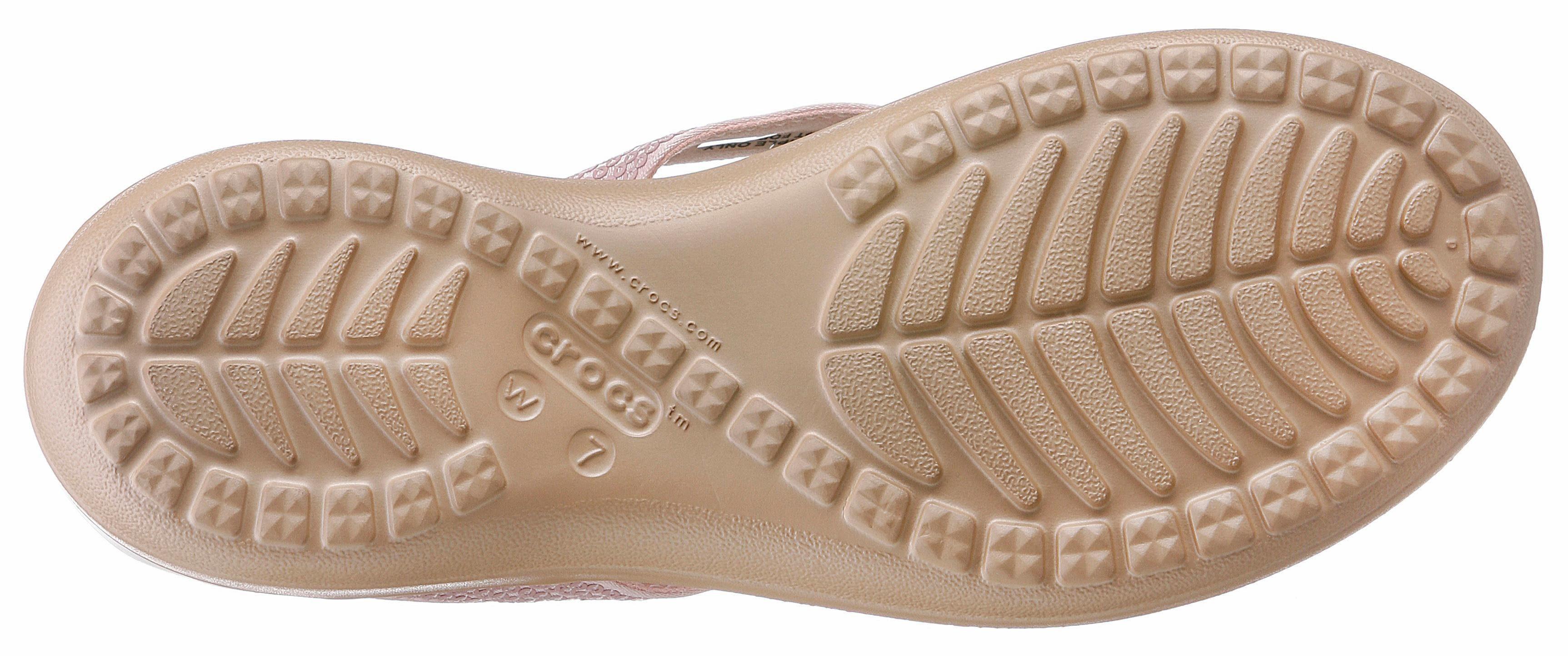 Crocs Capri V Sequin Zehentrenner, mit schimmernden Pailletten besetzt online kaufen  rosé