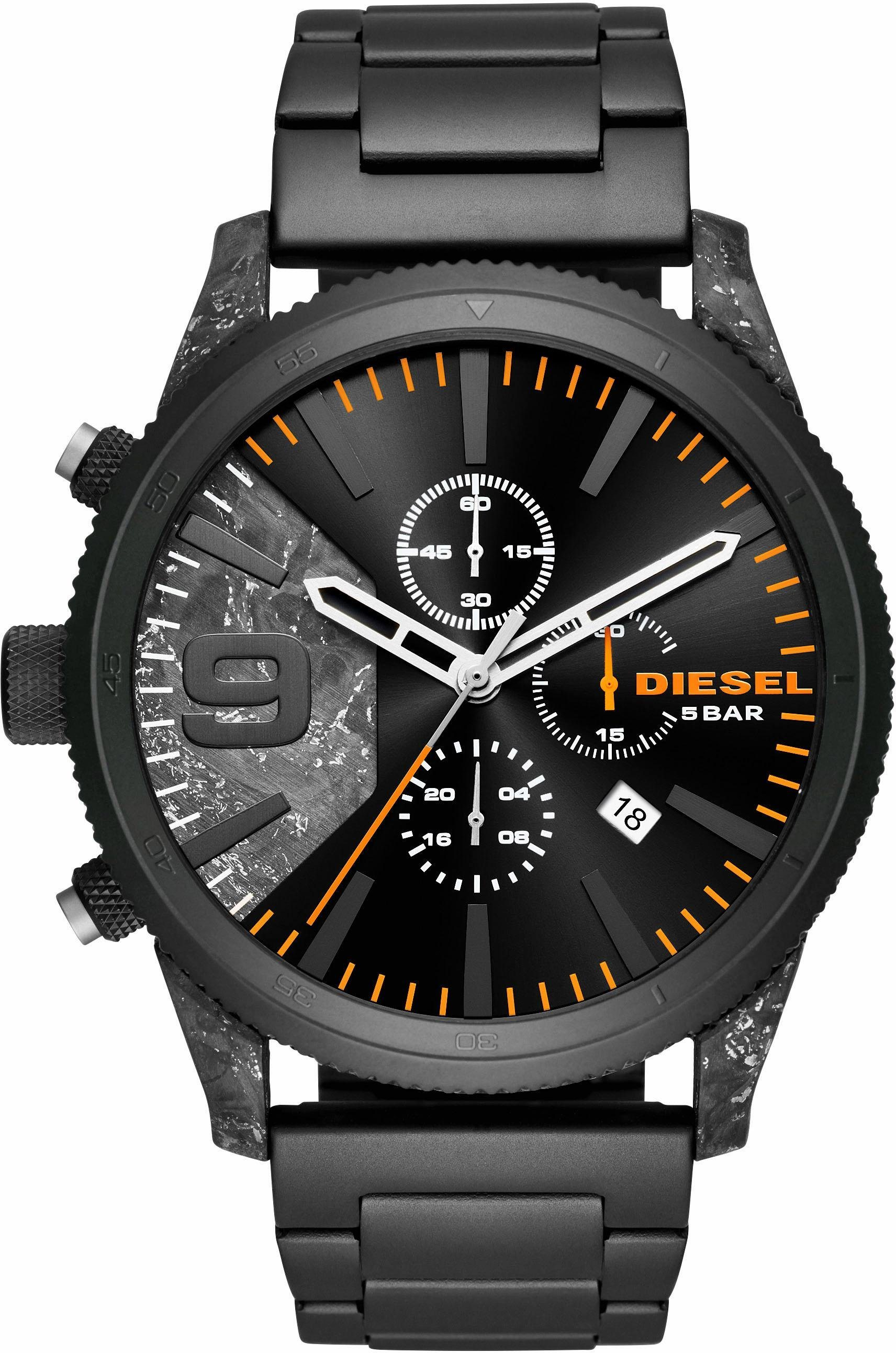 Herren Diesel Chronograph RASP CHRONO 50MM, DZ4469 schwarz | 04053858932753