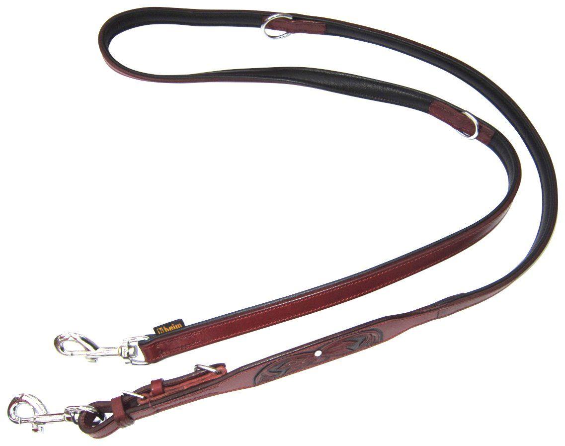 HEIM Hundeleine »Savanne«, bordeaux, Länge: 200 cm
