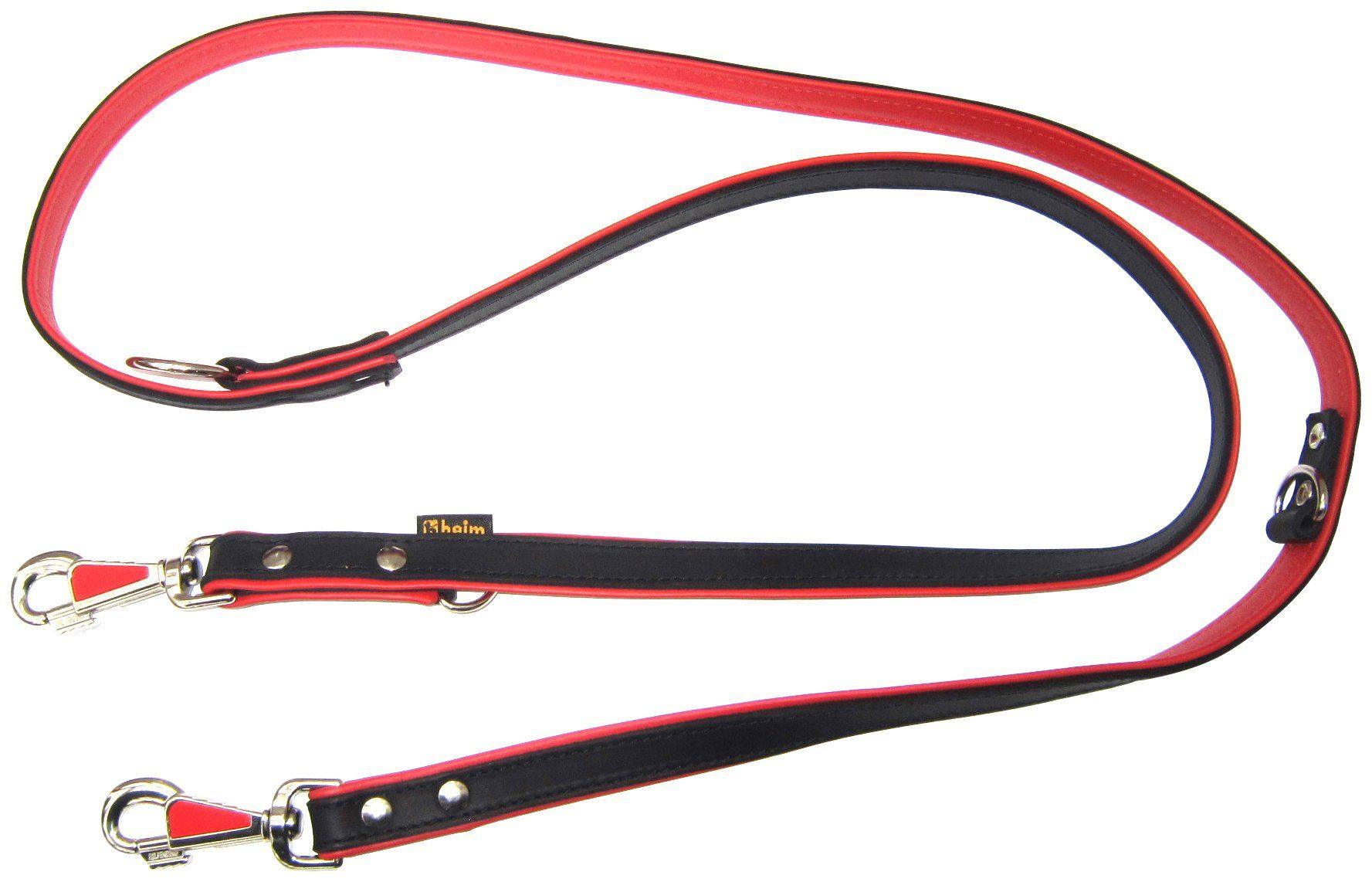 HEIM Hundeleine »Apollo«, schwarz-rot, Länge: 200 cm