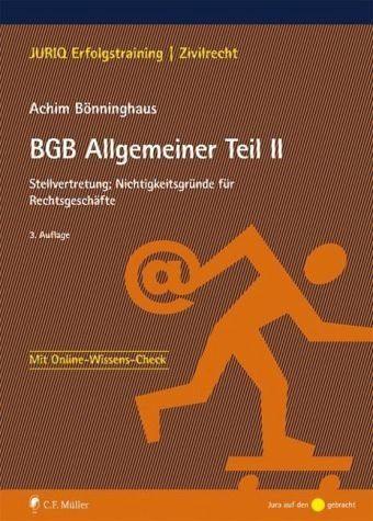 Broschiertes Buch »BGB Allgemeiner Teil II«