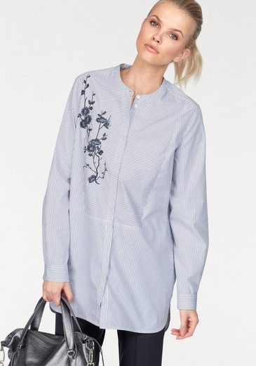Claire Woman Classic Blouse, Placed With An Elegant Flower-embroidery