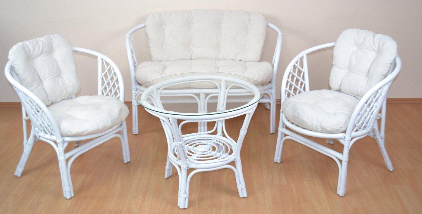 Weiss Rattan Gartenmöbel Set Online Kaufen Möbel Suchmaschine