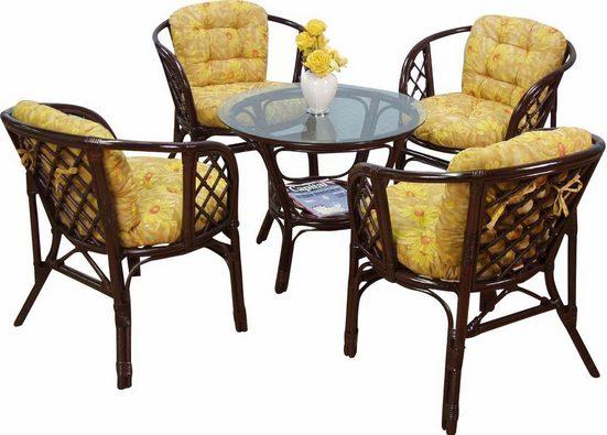 Home affaire Tisch  gemütliche Rattanmöbel ideal für Wohnraum oder Wintergarten