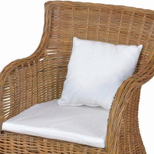 Home affaire »Kissen 2er-Set« bestehend aus einem Sitzkissen und einem Dekokissen, in cremefarben