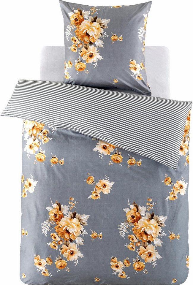 wendebettw sche luisa sternenzelt mit gro en blumen online kaufen otto. Black Bedroom Furniture Sets. Home Design Ideas