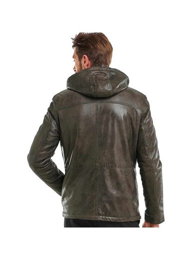 Engbers Leather Jacket With Detachable Hood