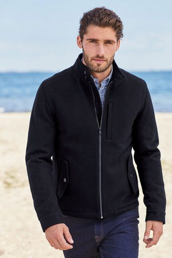 Next Harrington-Jacke aus Wolle