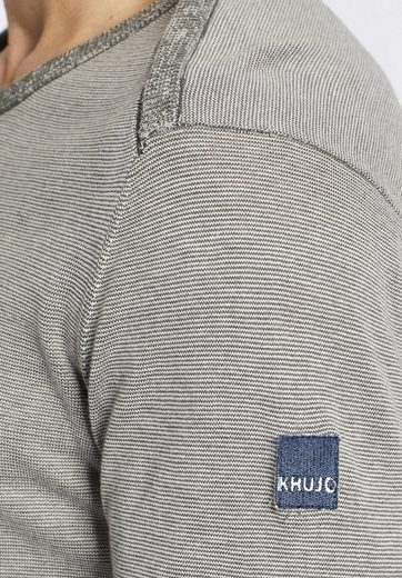 Khujo Crew-neck Sweater Postage, With Stripe Pattern