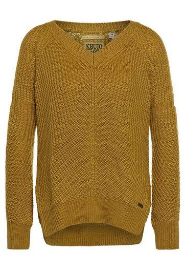 khujo V-Ausschnitt-Pullover AZRA