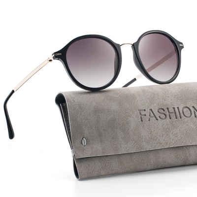 GlobaLink Sonnenbrille »GlobaLink SonnenBrille 01« Damen Retro Sonnenbrille - Avoalre Vintage runde Sonnenbrille Klassischer Designer-Stil - UV400-Schutz