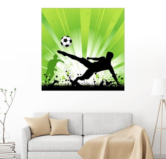Posterlounge Wandbild, Fussballspieler