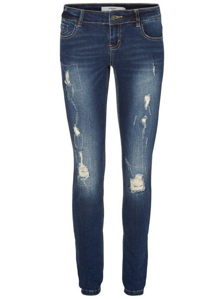 vero moda dehnbare five lw skinny fit jeans kaufen otto. Black Bedroom Furniture Sets. Home Design Ideas