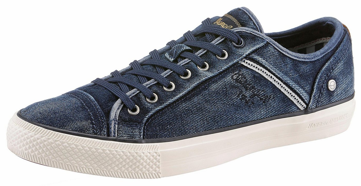 Herren Wrangler Starry Low Denim Sneaker im angesagten Used-Look blau | 08054301889712