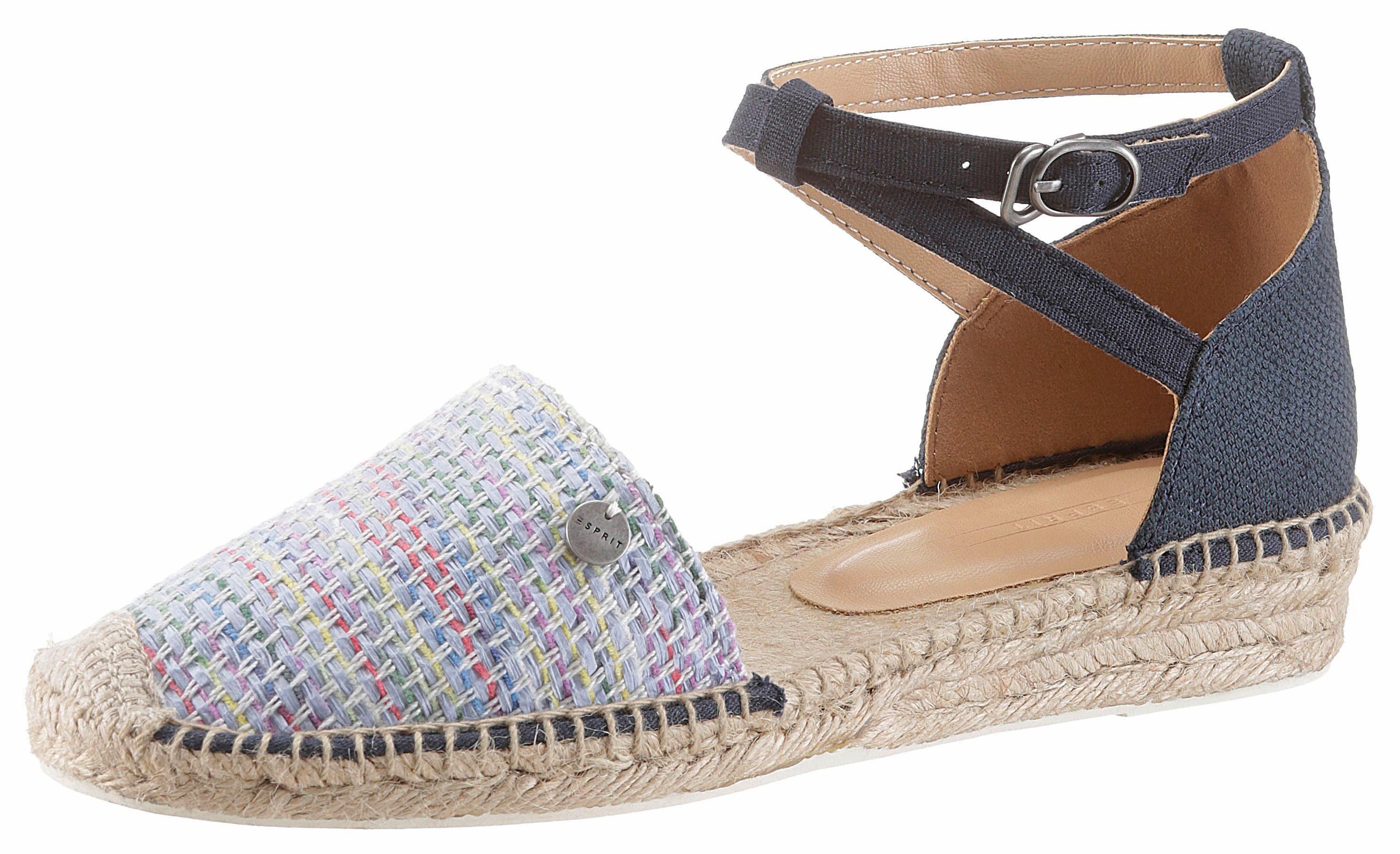 Esprit Espadrilles-Sandale für Damen, Größe 36, Navy