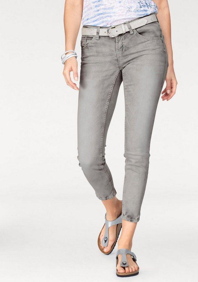 soccx ankle jeans miranda steppungen mit dickem garn. Black Bedroom Furniture Sets. Home Design Ideas