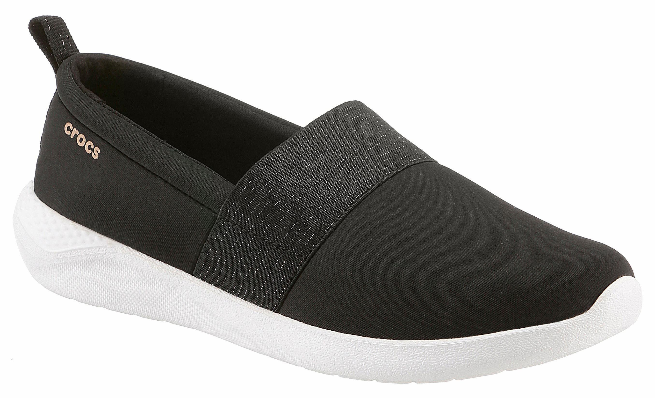 Crocs »Lite Ride Slip On« Slipper, Leichtgewicht, schwarz, EURO-Größen, schwarz