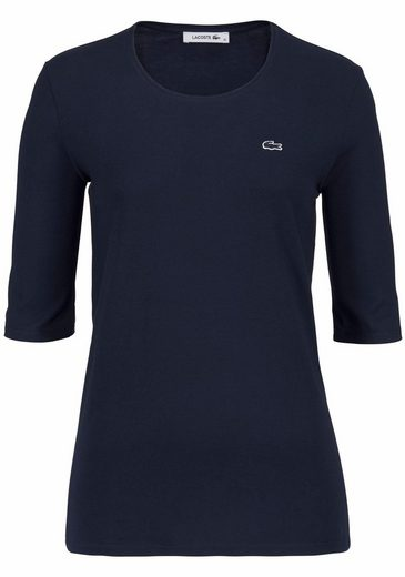 Lacoste T-shirt, Mit Logobadge