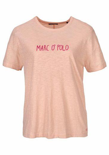 Marc O'Polo T-Shirt, mit auffälliger Applikation und Logoprint