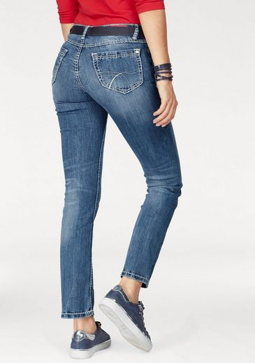 Soccx Straight Jeans Romy, With Striking Dekosteppnähten
