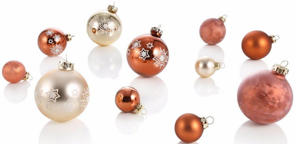 Weihnachtskugeln Kupfer.Thüringer Glasdesign Tgs Weihnachtskugeln Made In Germany 30 Tlg Kupfer