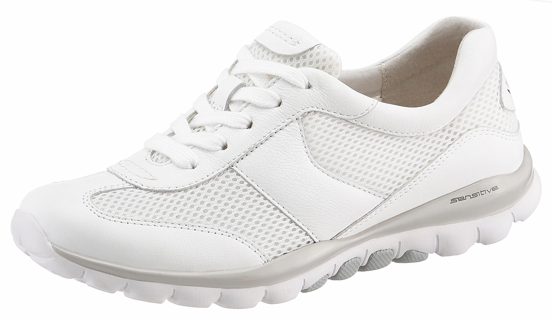 Gabor Rollingsoft Sneaker, mit sportlichem Mesheinsatz, weiß, weiß