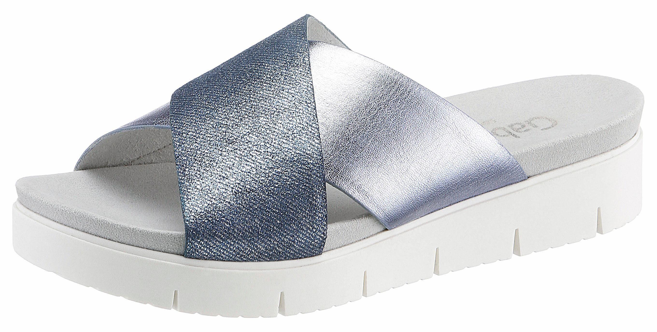 Gabor Clog, in hübschem Farbmix, bunt, EURO-Größen, jeansblau-multi