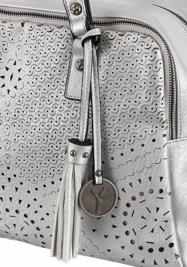 SURI FREY Henkeltasche MAY, mit schöner Perforation und Metallic-Look