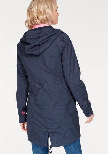 SOCCX Parka, mit Taillen-Regulierung, Zipper und vielen Details