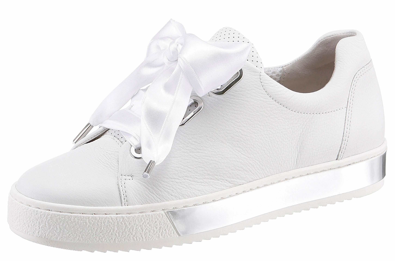 Gabor Sneaker, mit gepolstertem Schaftrand, weiß, 44 44