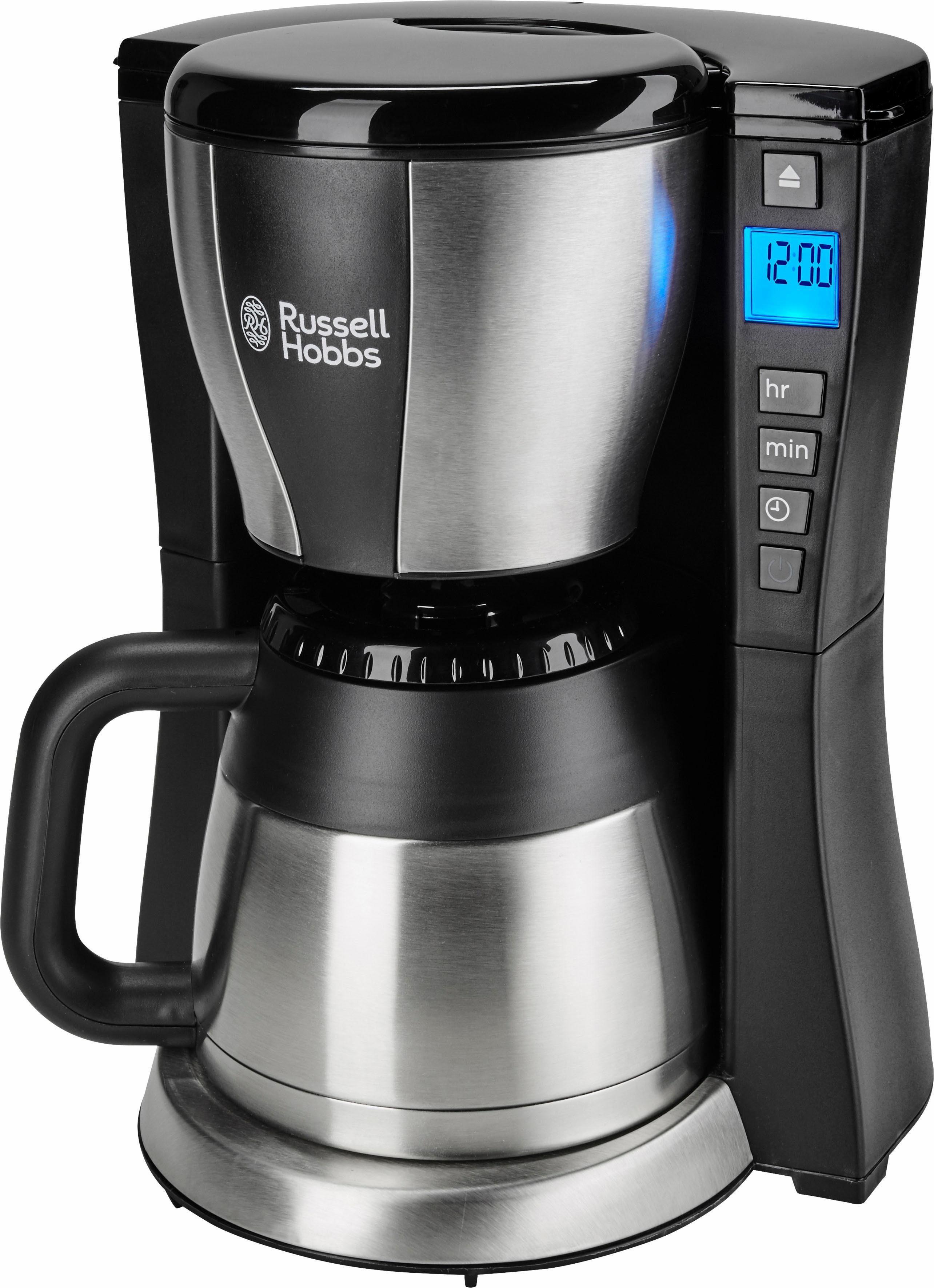 RUSSELL HOBBS Filterkaffeemaschine Fast Brew 23750-56, 1l Kaffeekanne, 1x4, mit Thermokanne, 1200 Watt, Edelstahl-schwarz