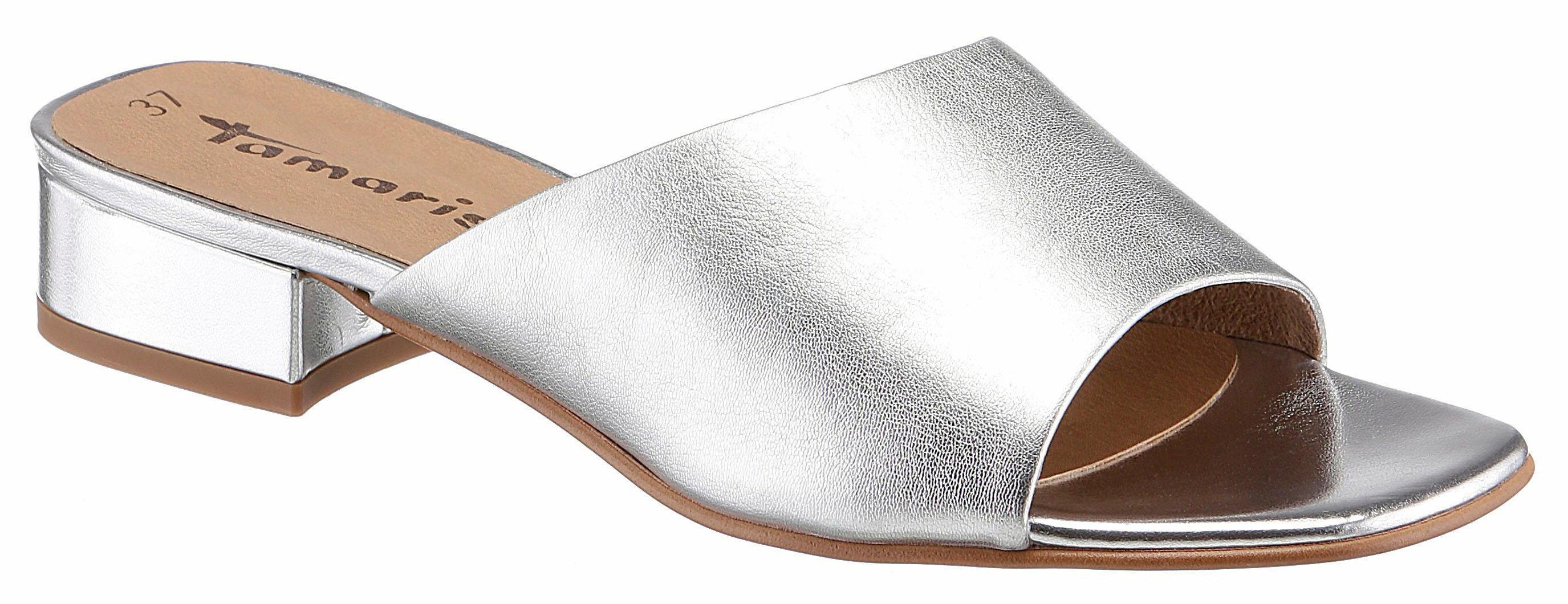 Tamaris Pantolette, im schlichten Design kaufen  silberfarben