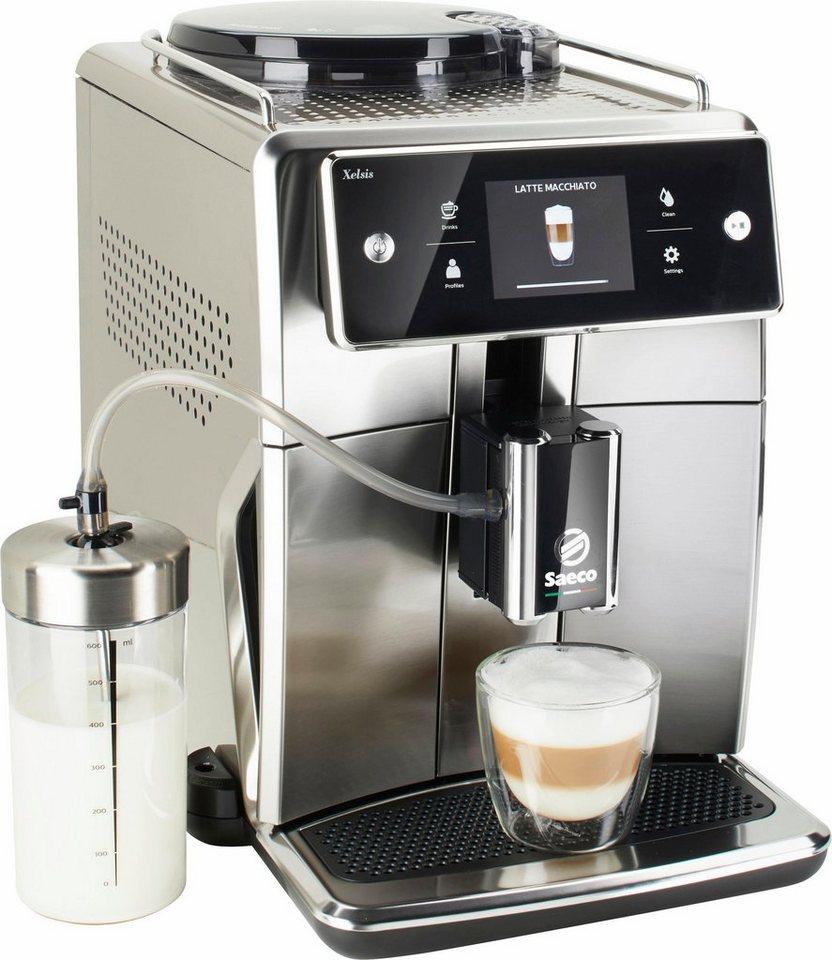 saeco kaffeevollautomat sm7685 00 xelsis 1 7l tank scheibenmahlwerk 15 getr nke front und. Black Bedroom Furniture Sets. Home Design Ideas