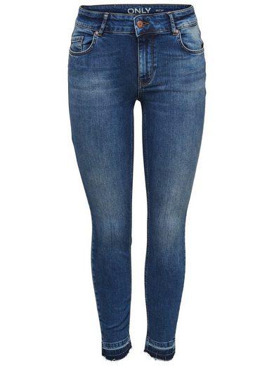 Only Carmen Reg Knöchel-Jeans in Skinny Fit mit 5 Gürtelschlaufen