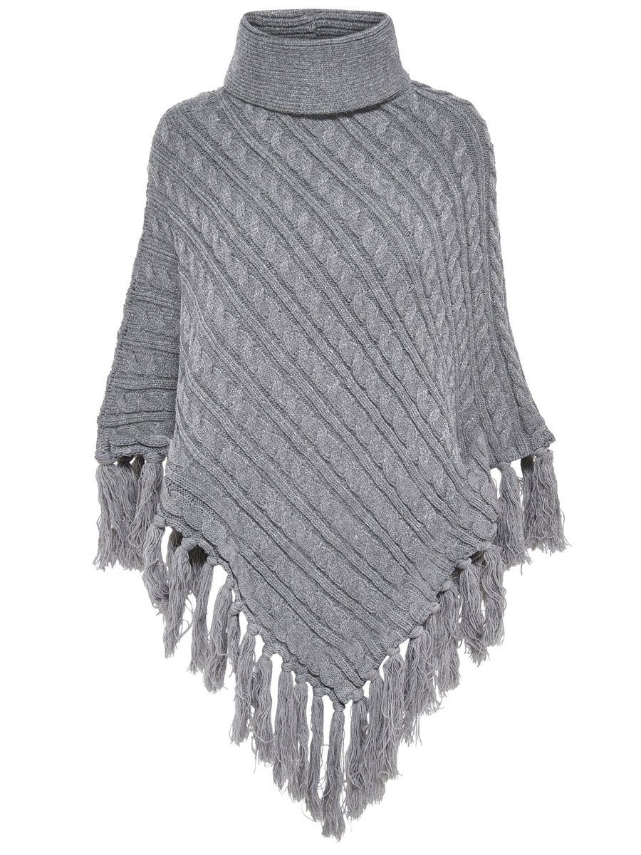 Only Gestrickter Poncho